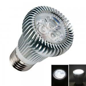 E27 6W 3 LED Pure White High Power Focus Spotlight Bulb (110V-240V)