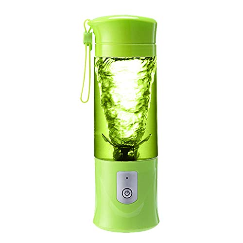 NJLC Portable Electric Blender, Rechargeable Mini Juicer Multi-Function Travel Juice Cup,Green