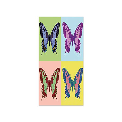 - 3D Decorative Film Privacy Window Film No Glue,Butterflies Decorations,Pop Art Swallowtail Pavilions Wild Life Transcendent Energies of Miraculous Wings,Multi,for Home&Office