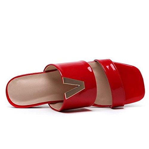 Mules Zanpa Donna Red Mode Piatto OORY4x