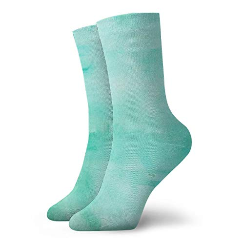 PengMin Green Watercolor Wallpaper Fashion Dress Socks Socks Casual Travel Sports Socks Yoga Walking Cycling Running Football