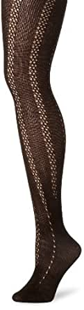 Anne Klein Women's Cashmere Openwork Over The Knee Socks, Chocolate, One Size