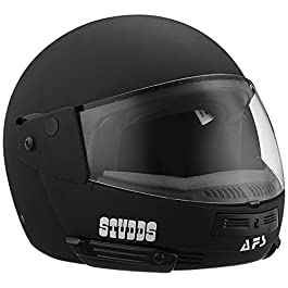 Studds Full Face Helmet Ninja Pastel (Plain Matt Black, L)