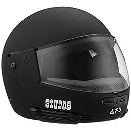 Studds Full Face Helmet Ninja Pastel (Plain Matt Black, L)
