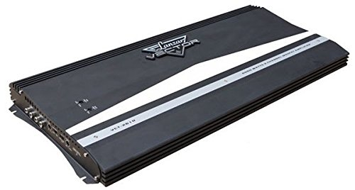 Lynx Hood - 2-Channel High Power MOSFET Amplifier - Slim 6000 Watt Bridgeable Mono Stereo 2 Channel Car Audio Amplifier w/Crossover Frequency and Bass Boost Control, RCA Input and Line Output - Lanzar VCT2610