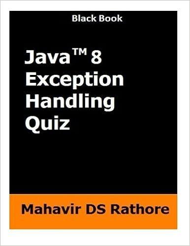 Java 8 Exception Handling Quiz: Mahavir DS Rathore