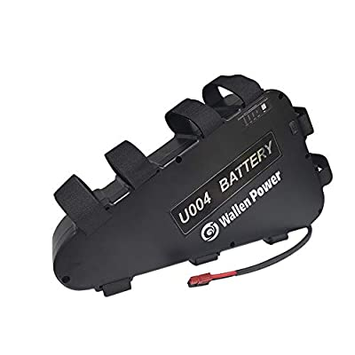 Wallenpower Ebike Battery Triangle, 48V/52V 20A Lithium Li-ion Battery with USB Port, 30/40A BMS and Charger for 1500W/1000W/750W/500W Bike Motor Kit, Waterproof and Shockproof Case (52V20A 1500W): Home Audio & Theater