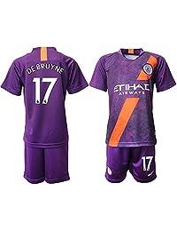 ALESS New Manchester City DE BRUYNE #17 Away Purple Youths/Kids Soccer Jersey