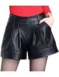 Women's High Waist Faux Leather Short