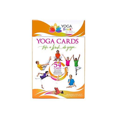 Kids Yoga Cards, 54 Educational Flash Card Deck for Children, 7 Sequences with Yoga Poses, Breathing Exercises, Meditations and Affirmations.