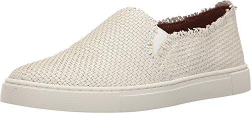 FRYE Women's Ivy Fray Woven Slip Fashion Sneaker, White, 11 M US