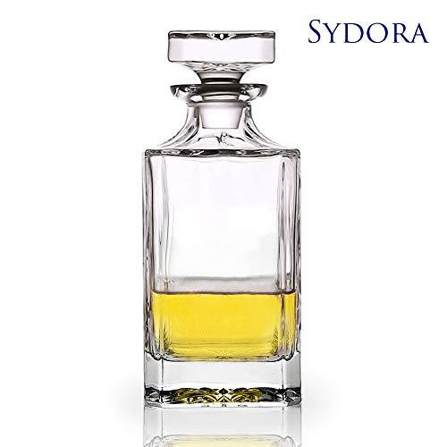 SYDORA Whiskey Decanter & Liquor Decanter - 750ml/25oz for Wine, Whisky, Bourbon, Brandy and Liquor(Krume)