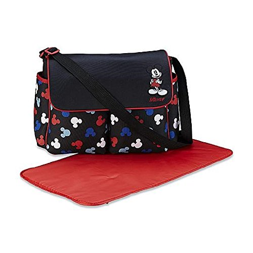 3 Piece Diaper Set (Disney Baby Mickey Mouse 3 Piece Infant Diaper Bag Set, Silhouettes)