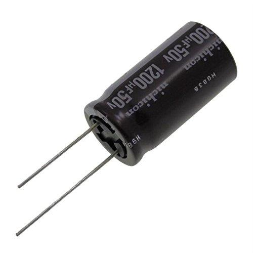 1200/µF 50V 105/°C ; UPW1H122MHH ; 1200uF 10x Electrolytic Capacitor rad