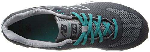 New Balance Woven 574 Mens Textile Trainers Negro Gris - 43 Ue