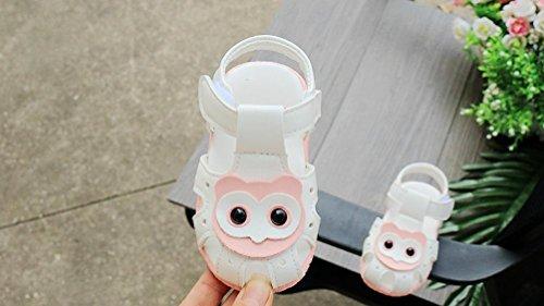 cinnamou Stickerei Babyschuhe Baby Mädchen Jungen Soft Sole Schuhe Sneakers Casual Sandalen Süße Anti-Rutsch-Babyschuhe Krippeschuhe Strandschuh (9-12M, Rose) Weiß_a