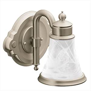 Moen Yb9861bn Waterhill Single Globe Bath Light Brushed Nickel Vanity Lighting Fixtures