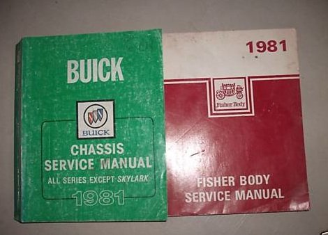 1981 Buick Riviera Regal Lesabre Service Manual Set Oem (chassis service manual, and the fisher body service ()