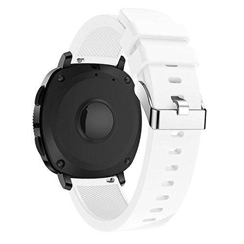 QGHXO Breathable Band for Garmin VivoActive 3, Soft Silicone Strap for Garmin VivoActive 3 / Garmin Vivoactive 3 Music/Garmin Forerunner 645 Music Smartwatch