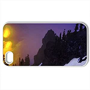 Crater Lake National Park, Oregon - Case Cover for iPhone 4 and 4s (Lakes Series, Watercolor style, White) by icecream design