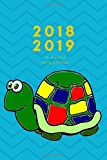 2018 2019 15 Months Daily Planner: Small Mini Calendar To Fit Purse & Pocket; Turtle Cover Design; Portable Monthly & Weekly Goals Journal With Quotes & Address Book; Dates From Oct 2018 - Dec 2019
