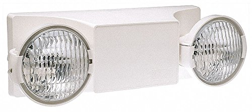 HUBBELL LIGHTING 2 Incandescent Lamps, Emergency Light