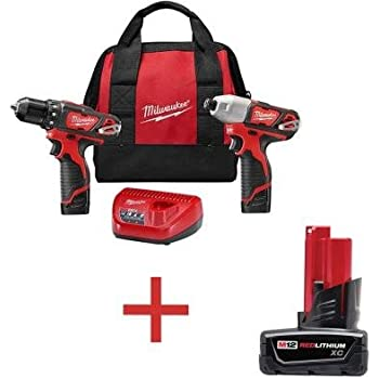 M12 12-Volt Lithium-Ion Cordless Drill Driver/Impact Driver Combo Kit (2-Tool) with Free M12 XC Battery Pack