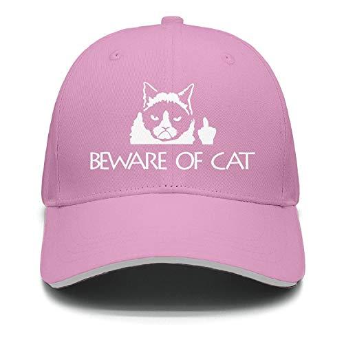 (Beware of Cat Low Key Cotton Adjustable Mesh Caps Sun Hat Unisex)