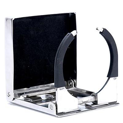 Amarine Made Stainless Steel Adjustable Folding Drink Holder Cup Holder Marine/Boat/Caravan/car (1): Automotive