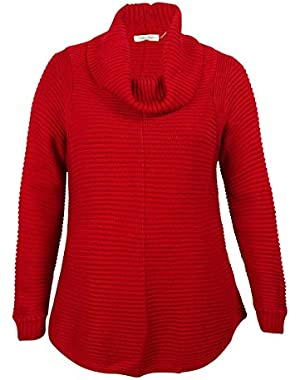 Womens Plus Knit Long Sleeves Pullover Sweater