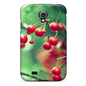 Premium IgscyjU5674JTUvC Case With Scratch-resistant/ Red Berries Case Cover For Galaxy S4