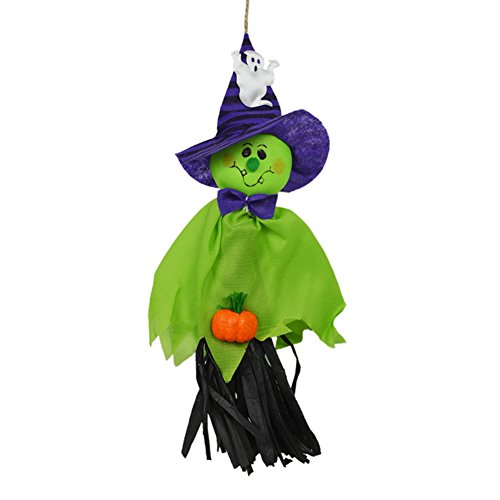 CHoppyWAVE Halloween Hanging Ghost Pumpkin Decoration for Home Kindergarten Haunted House - Green for $<!--$1.89-->