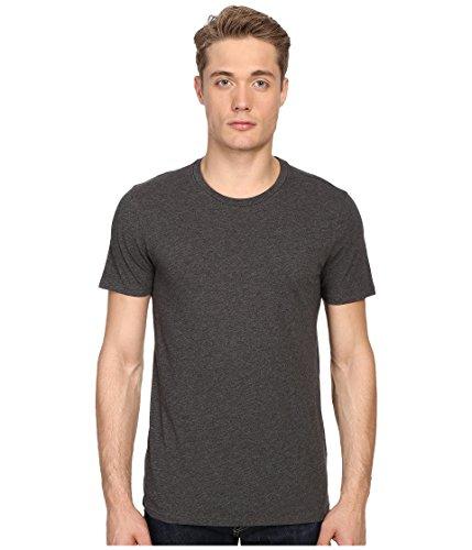 - Vince Men's Favorite Pima Cotton Short-Sleeve Crew-Neck T-Shirt, Heather Carbon, Small