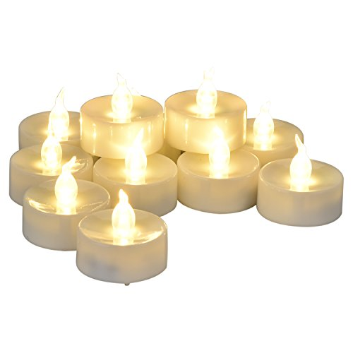 [With Timer Function] LED Tea Lights - 12 Warm White Flickering Flameless Tealight with Timer, 6 Hours on and 18 Hours Off in 24 Hours Cycle, Dia. 1.4 (Warm White) (Tealight Flickering Timer compare prices)