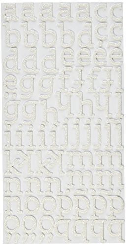 (American Crafts Thickers Glitter Foam Letter Stickers, Sunny White)