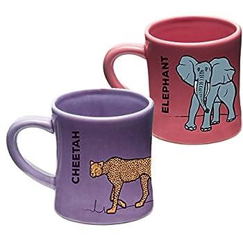 Wildini BittyMugs Elephant Cheetah - Kid Sized Mugs 7a847334e7a