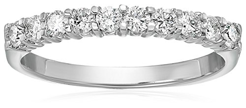Vir Jewels Certified I1-I2 1/2 ctw Diamond Wedding Band 14K White Gold Size 7 ()