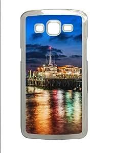 The pier in santa monica Polycarbonate Hard Case Cover for Samsung Grand 2/Samsung Grand 7106 Transparent