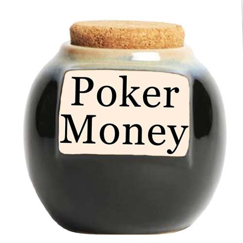 Tumbleweed 'Poker Money' Funny Money Bank, Coin Jar; Gifts For - Gift Poker