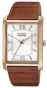 Citizen Men's BM6788-05A  Eco-Drive Brown Leather Strap Watch