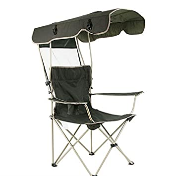 Amazon.com: Trending Arrow Silla de pesca plegable con toldo ...