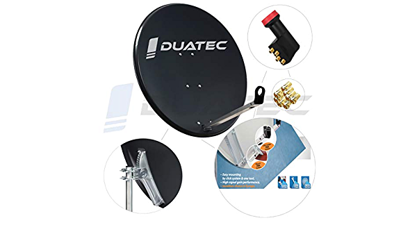 Duatec - Antena parabólica (97 cm, LNB cuádruple): Amazon.es ...
