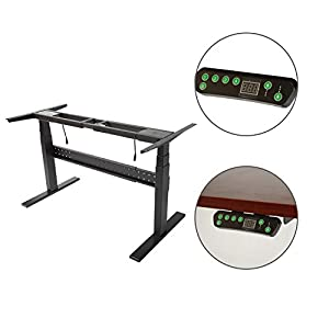Steel Desk Frame Crank/Standing Desk Frame Ergonomic Standing Height Adjustable  Desk Black Base