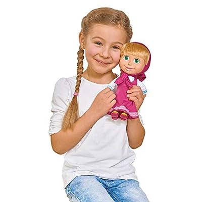 Simba Masha and The Bear 109306372 Doll-23cm, Nylon/A, 23cm Soft Bodied Masha Doll: Toys & Games