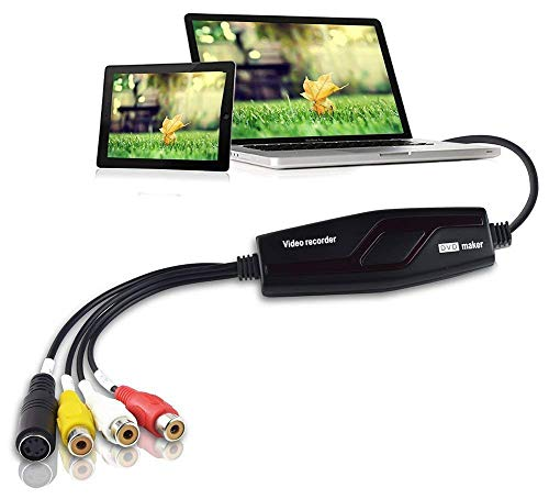 DIGITNOW Video Capture Converter, VHS to DVD Capture Analog Video to Digital for Mac or Windows 10 PC