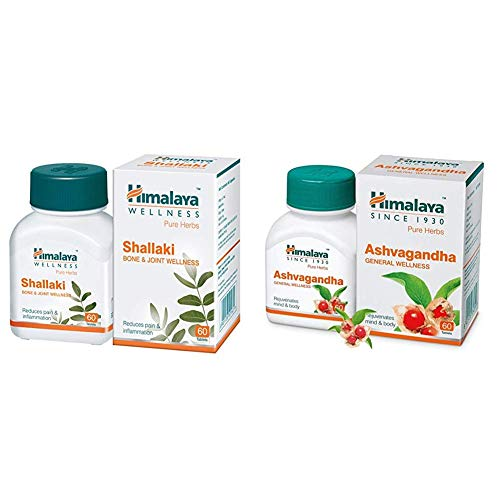 Himalaya Wellness Shallaki Bone & Joint Wellness | Reduces pain and inflammation | Tablets – 60 Count and Himalaya…