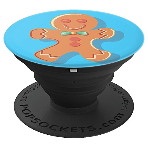 Gingerbread Man Cookie, Christmas Gift - PopSockets Grip and Stand for Phones and (Gingerbread Gift)