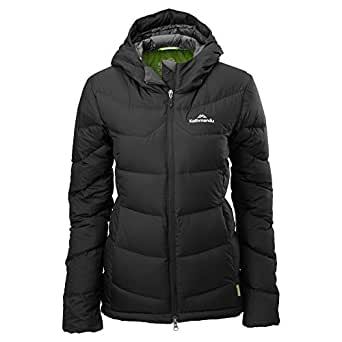 Kathmandu Epiq Women's Hooded Warm Winter Duck Down Puffer Jacket Black 10