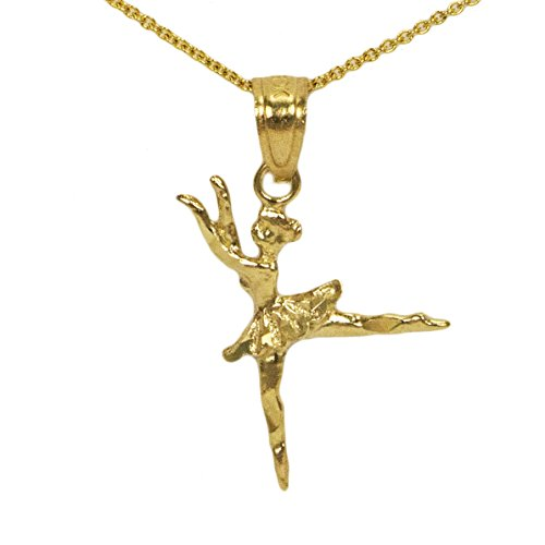 14k Yellow Gold Ballerina (14k Yellow Gold Ballerina Pendant)