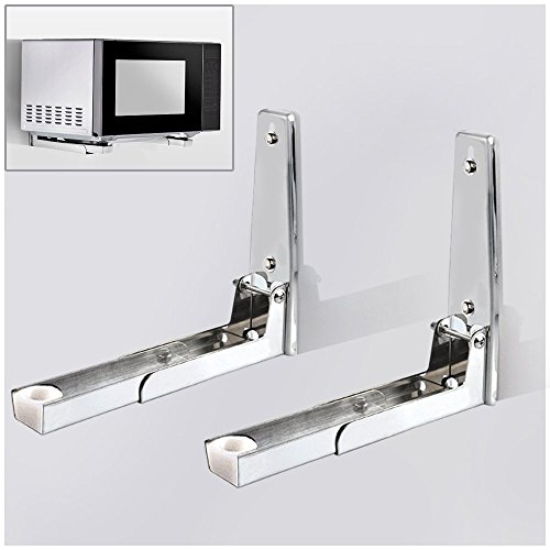 Hug Flight 304 Stainless Sturdy Foldable Microwave Oven Wall Mount Bracket Shelf Rack Load 130lb